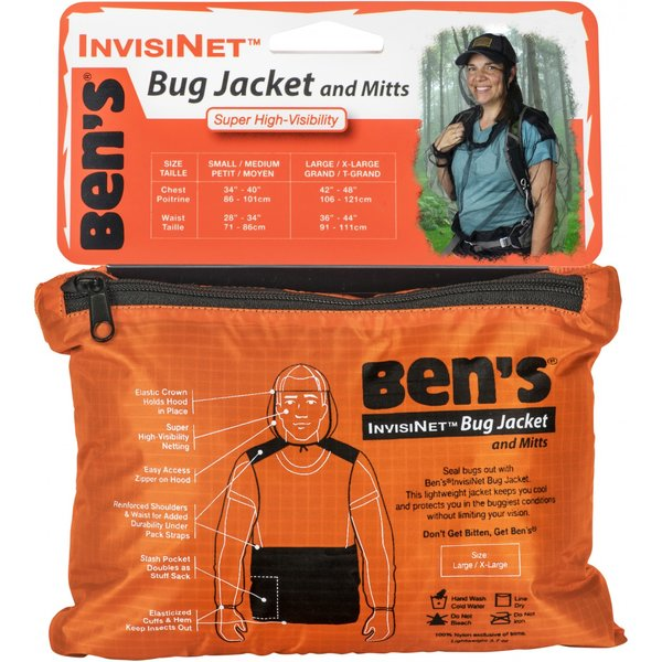Ben's InvisiNet Bug Jacket & Mitts L/XL