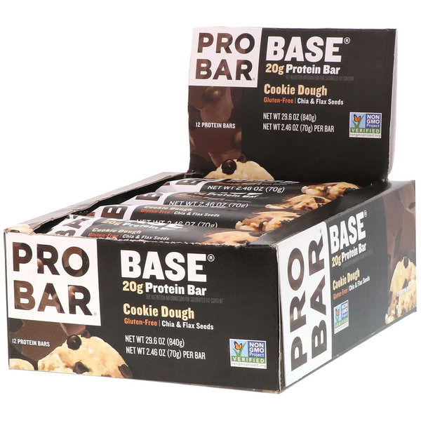 ProBar Base Protein Bar - Cookie Dough (2.46oz) - Box of 12