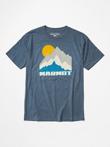 Marmot Tower Short-Sleeve T-Shirt - Men's Color: Navy Heather