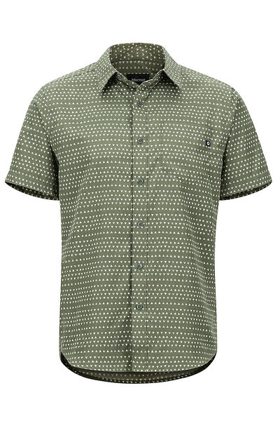 Marmot Lykken SS Shirt - Men's Color: Crocodile Angles