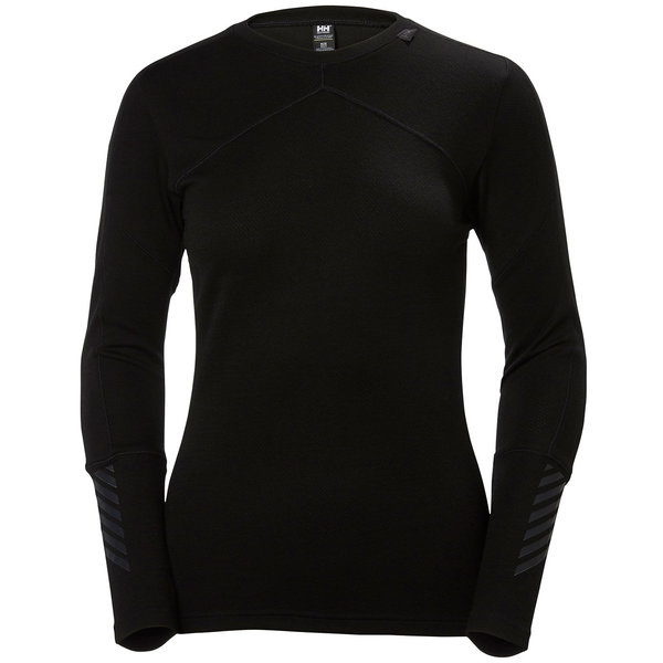 Helly Hansen Lifa Merino Crew - Women's Color: Black