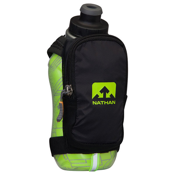 Nathan SpeedShot Plus Insulated Flask Color: Black/Safety Yellow