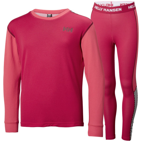 Helly Hansen Lifa Active Set - Kid's Color: Persian Red