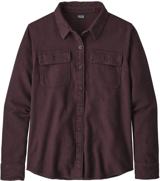 Patagonia L/S Fjord Flannel Shirt - Women's Color: Jaspe Twist: Deep Plum