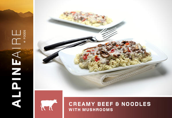 AlpineAire Creamy Beef & Noodles with Mushrooms