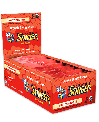 Honey Stinger Organic Energy Chew - Fruit Smoothie (50g) - Box of 12