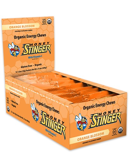 Honey Stinger Organic Energy Chew - Orange Blossom (50g) - Box of 12