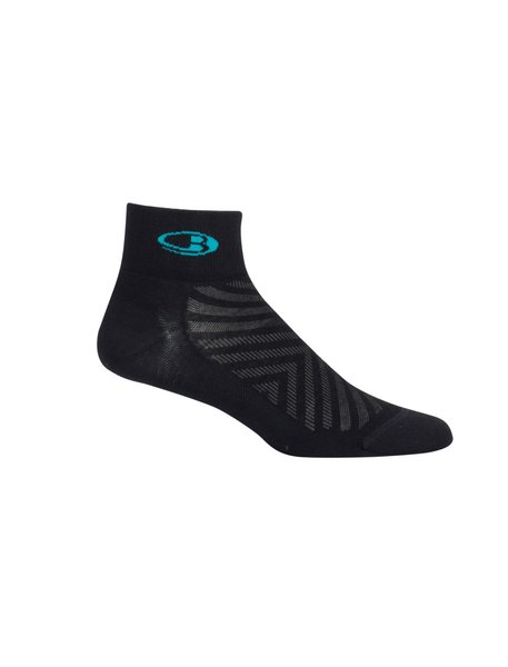 Icebreaker Run+ Ultra Light Mini - Women's Color: Black/Lagoon