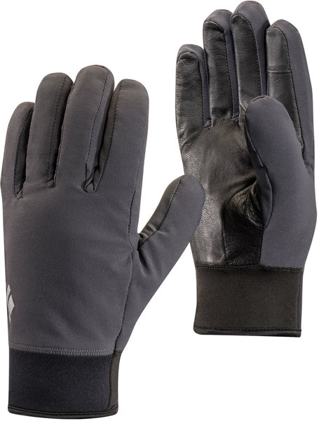 Black Diamond Midweight Softshell Gloves Color: Smoke