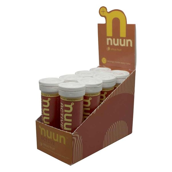 nuun Active Hydration - Citrus Fruit (10 tablets per tube) - Box of 8 Tubes