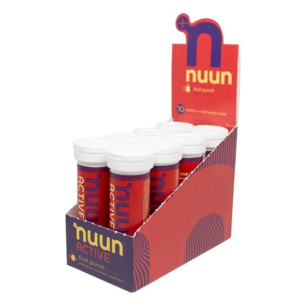nuun Active Hydration - Fruit Punch (10 tablets per tube) - Box of 8 Tubes