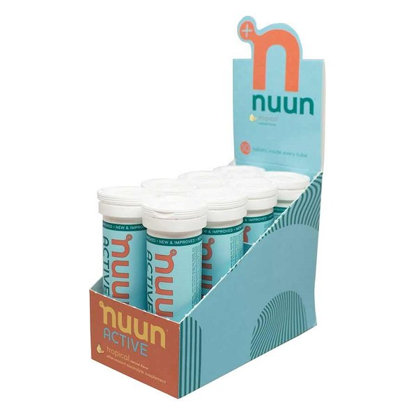 nuun Active Hydration - Tropical Fruit (10 tablets per tube) - Box of 8 Tubes