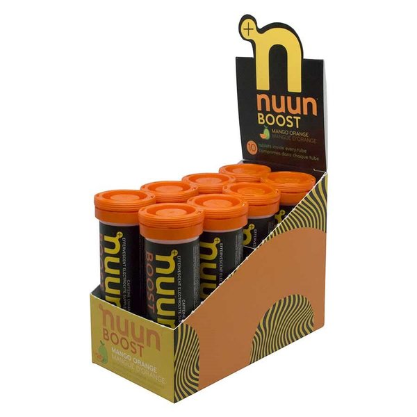 nuun Boost Hydration - Mango Orange (10 tablets per tube) - Box of 8 Tubes