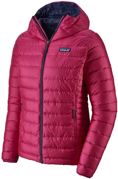 Patagonia Down Sweater Hoody - Women's Color: Craft Pink w/Classic Navy
