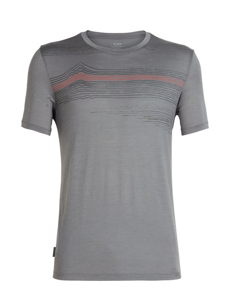 Icebreaker Tech Lite Short Sleeve Crewe Linework - Men's
