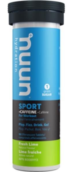 nuun Sport + Caffeine - Fresh Lime (10 tablets per tube)