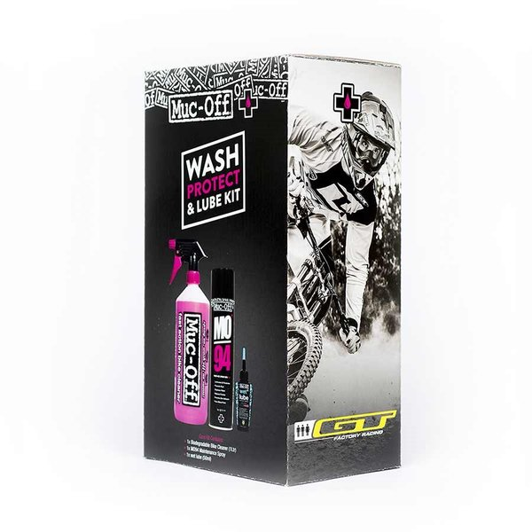 Muc-Off Wash, Protect and Lube Kit - Wet Lube
