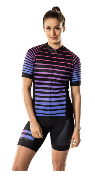 Bontrager Anara LTD Cycling Jersey - Women's Color: Purple/Bright Pink