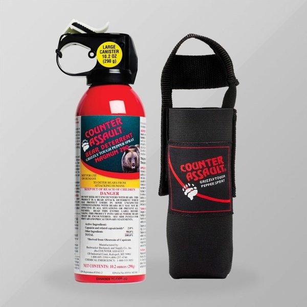 Counter Assault Bear Spray - 290g / 10.2 oz Bear Deterrent with Belt Holster