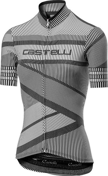 Castelli Millerighe Jersey FZ - Women's Color: White/Black