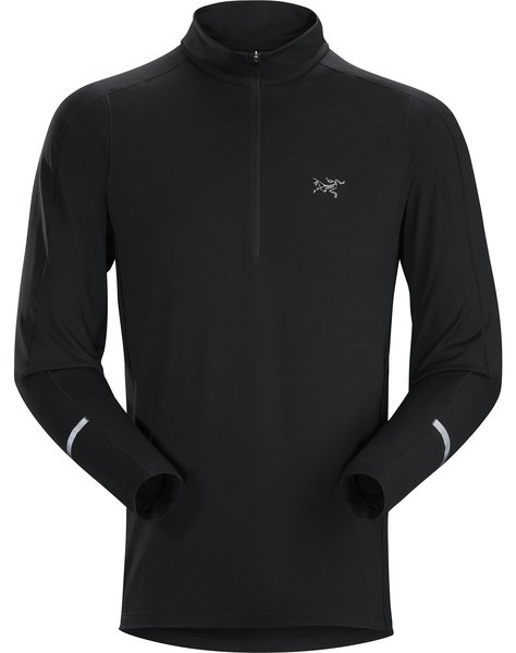 Arcteryx Cormac Zip Neck LS Color: Black