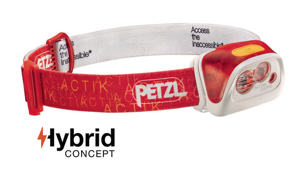 Petzl Actik Core USB Rechargeable Headlamp (350 Lumens) Color: Red