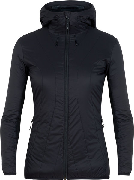 Icebreaker MerinoLOFT Hyperia Lite Hybrid Hooded Jacket - Women's Color: Black
