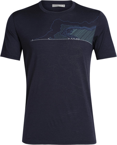 Icebreaker Tech Lite Short Sleeve Crewe Glacial Lines - Men's