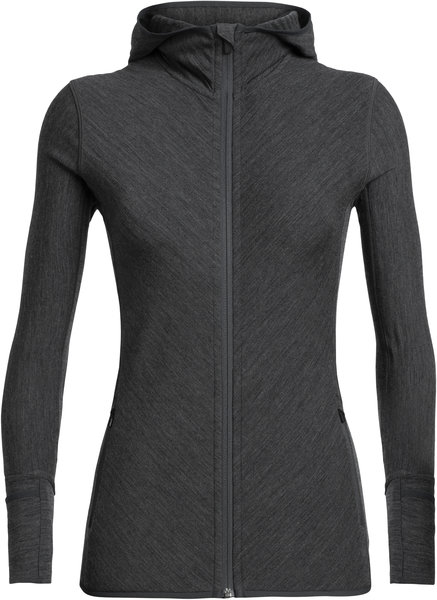 Icebreaker Descender Long Sleeve Zip Hood - Women's