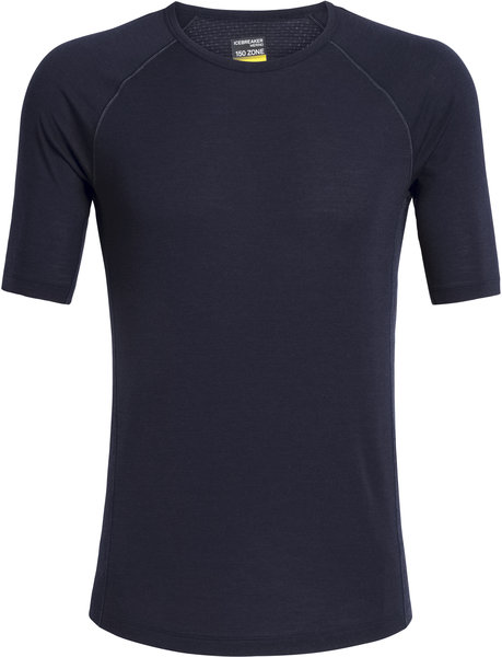Icebreaker BodyfitZONE 150 Zone Short Sleeve Crewe - Men's Color: Midnight Navy