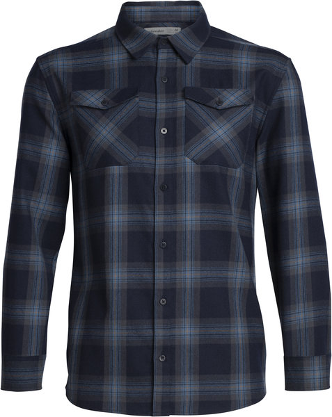 Icebreaker Lodge Long Sleeve Flannel Shirt - Men's
