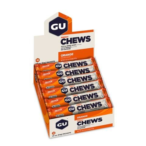 GU Energy Chews - Orange - Box of 18 packs (54g each)