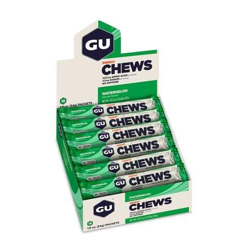 GU Energy Chews - Watermelon - Box of 18 packs (54g each)
