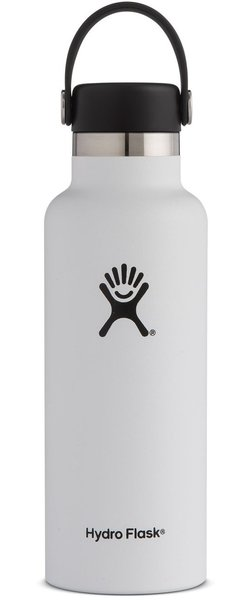 Hydro Flask 18 oz Standard Mouth - White