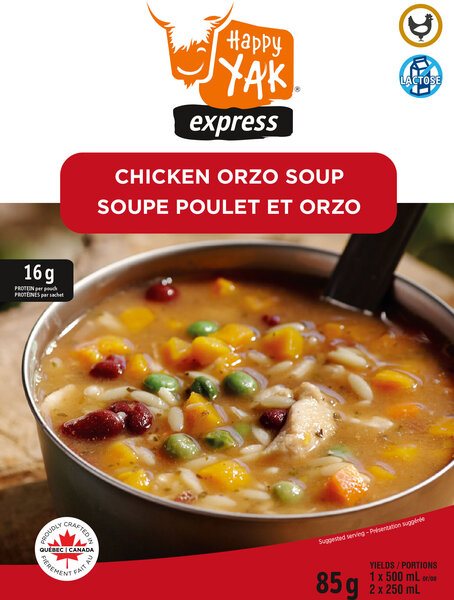 Happy Yak Chicken Orzo Soup