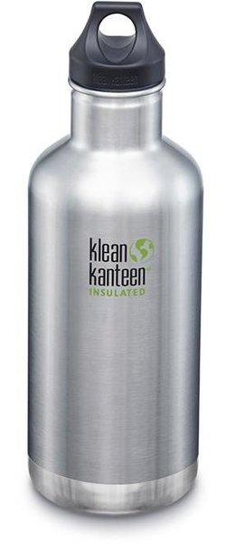 Klean Kanteen Insulated Classic 32oz w/Loop Cap Color: Brushed Stainless