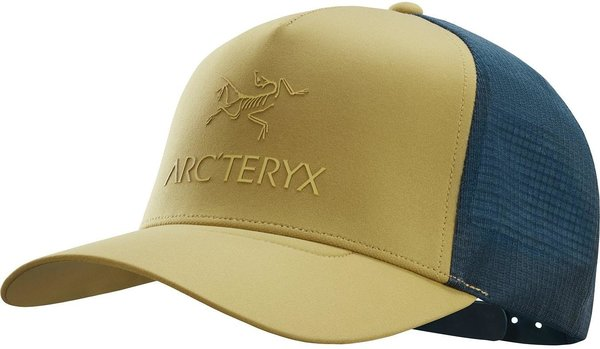 Arcteryx Logo Trucker Hat Color: Elk/Labyrinth