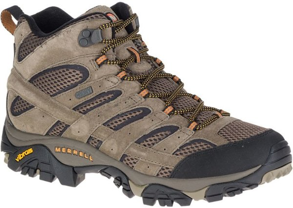 Merrell Moab 2 Mid Waterproof (Available in Wide Width) - Men's Color: Walnut
