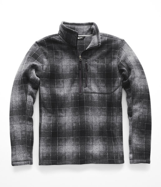 The North Face Mens Novelty Gordon Lyons Zip Color: Monument Grey Ombre Plaid Print