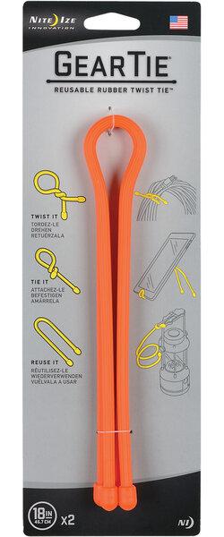 """Nite Ize Gear Tie Reusable Twist Tie 18"""" - 2 Pack"""
