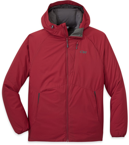 Outdoor Research Refuge Hooded Jacket - Men's Color: Retro Red