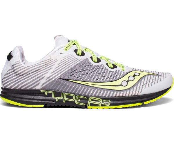 Saucony Type A8 - Men's Color: White/Black/Citron