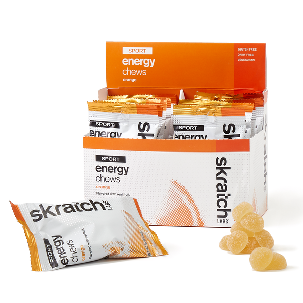 Skratch Labs Sport Energy Chews - Orange (50g) - Box of 10 Pouches