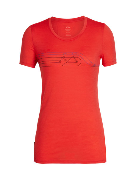 Icebreaker Tech Lite Short Sleeve Low Crewe Cadence - Women's