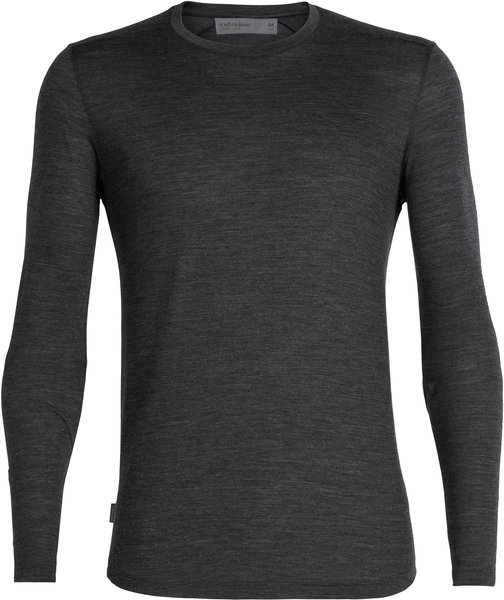 Icebreaker Sphere Long Sleeve Crewe - Men's Color: Black Heather
