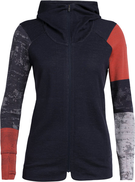 Icebreaker Away II Long Sleeve Zip Hood - Women's