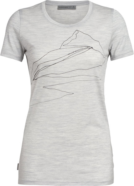 Icebreaker Tech Lite Short Sleeve Low Crewe Sunrise Summit - Women's