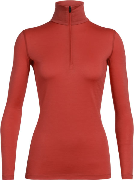 Icebreaker 200 Oasis Long Sleeve Half Zip - Women's Color: Fire