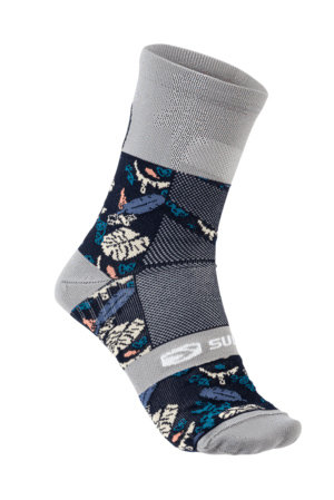 Sugoi RS Crew Sock Printed Color: Navy Monstera