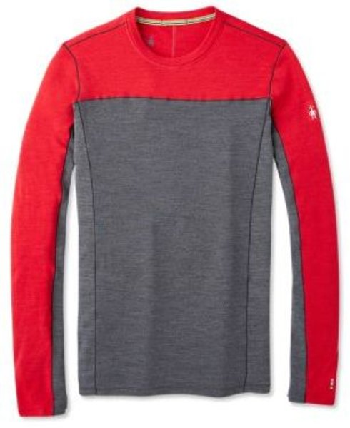 Smartwool Merino Sport 250 Long Sleeve Crew - Men's Color: Chili Pepper Heather